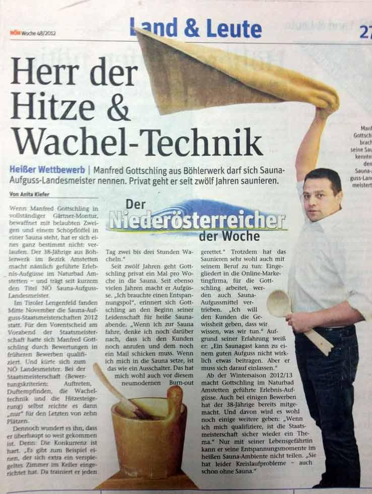 Zeitungsartikel NOEN