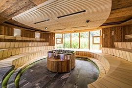 Sauna EM im Quellenhof St. Martin/ Meran in Südtirol